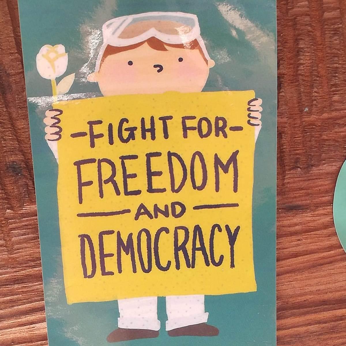 Tajvanski plakat (foto Radka Denemarková)