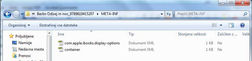 Vsebina e-knjige: META-INF