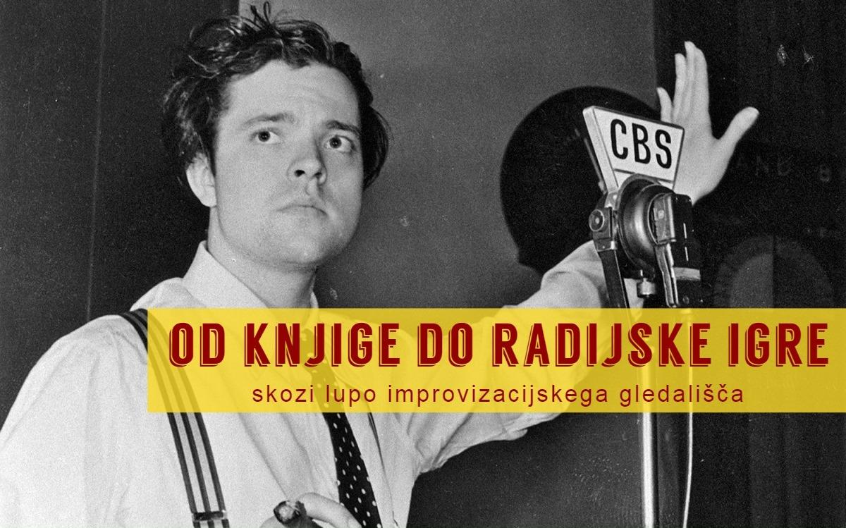 Orson Welles med snemanjem radijske igre