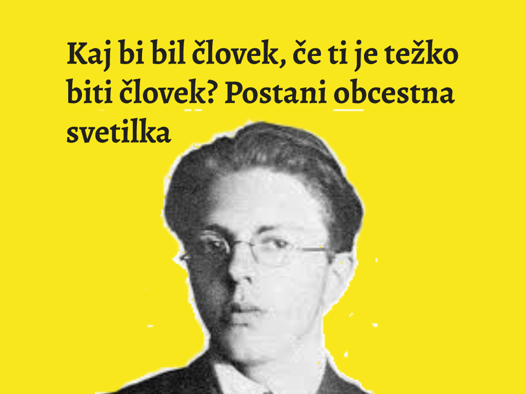 Citat iz pesmi Srečka Kosovela