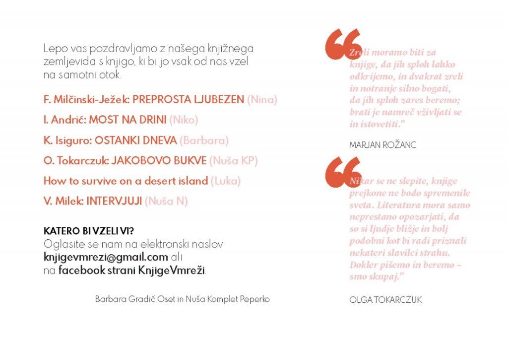 Razglednica Knjige v mreži: 2. stran (oblikovanje Kvirina Martina Zupanc)